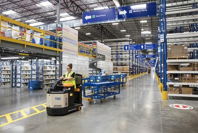 Photo of Mopar facility in Winchester, Va., courtesy of FCA.
