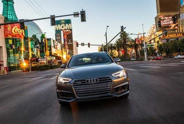 Las Vegas, a leader in smart city technology, is the first city to connect the traffic signal network to vehicles. Photo courtesy of Audi.