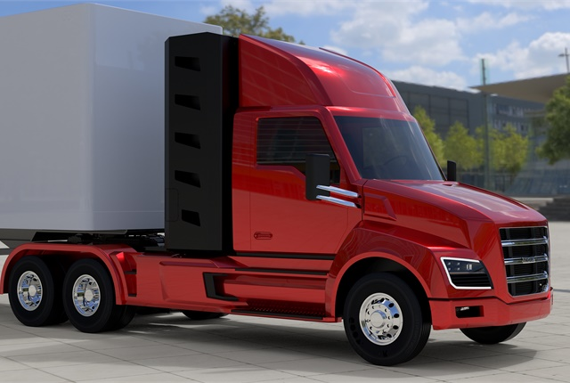 <p><strong>Nikola Two, a daycab version, will expand the possible applications for the fuel cell-electric vehicles. It will cost less than the Nikola One sleeper-equipped tractor. <em>Image: Nikola Motor</em></strong></p>