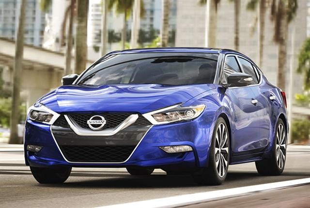 Photo of 2018 Maxima courtesy of Nissan.