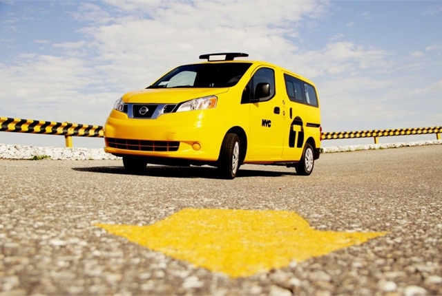 "Nissan's NV200-based ""Taxi of Tomorrow"" is now in production, according to the automaker. Photo courtesy Nissan."