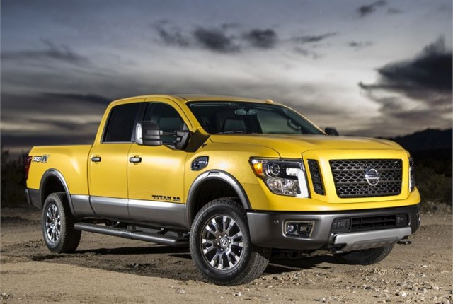 Photo of 2016 Titan XD crew cab courtesy of Nissan.