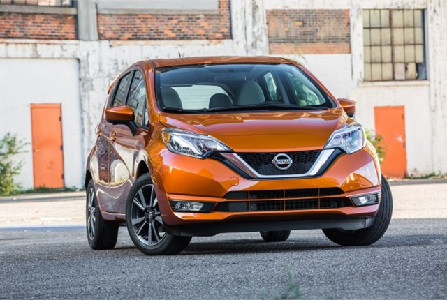 Photo of the 2017 Versa Note courtesy of Nissan.
