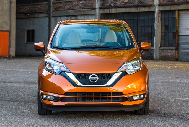 Photo of the 2018 Versa Note courtesy of Nissan.
