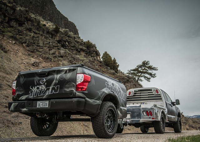 For the first time ever – Smokin' TITAN will be fully utilized and put to the test during a cooking competition among media members and Nissan executives in Pigeon Forge, Tenn., April 27-28. (Photo courtesy of Nissan)
