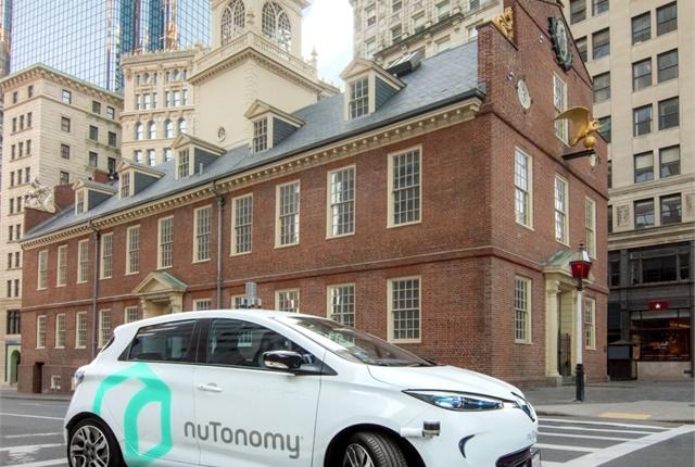 Photo of a NuTonomy self-driving car courtesy of NuTonomy.
