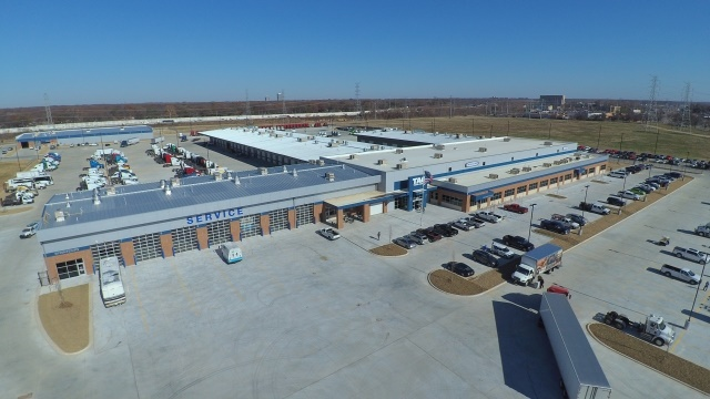 <p>TAG's new 190,000 square foot Freightliner dealership in Memphis, TN is comprised of a new and used truck sales center, a parts and service center, a parts distribution center, a full body shop, and the TAG Technical Institute.<em> (Image courtesy of DTNA)</em></p>