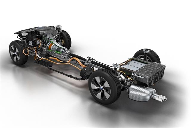 BMW 3 Series Plug-in hybrid prototype: Drive train. Photo courtesy of BMW.