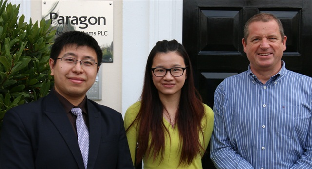 (L-R) Danvers Dai, Liz Zheng, and Will Salter mark the expansion of Paragon Software into China.Photo: Paragon Software