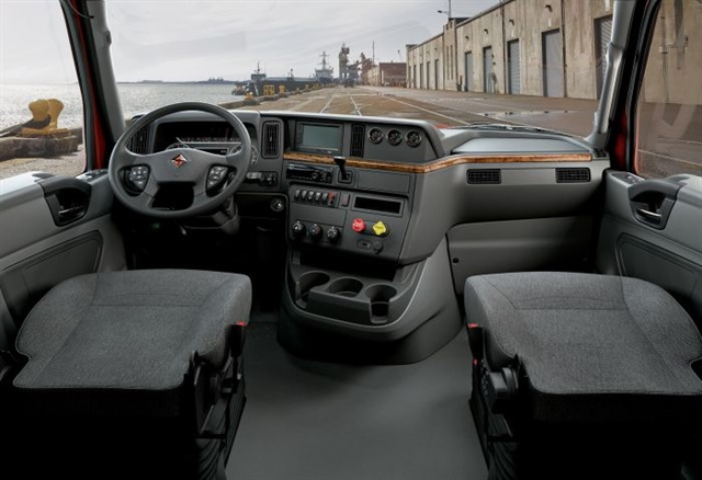 <p><strong>International said the RH interior is designed around how a driver will interact with the truck from the inside.</strong></p>