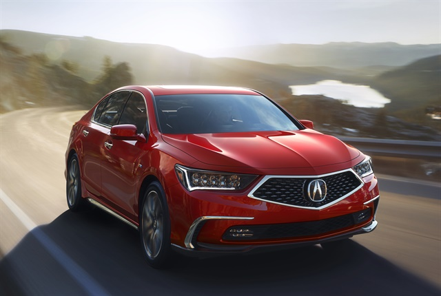 Photo of the 2018 RLX Sport Hybrid courtesy of Acura.