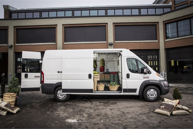 2014 Ram ProMaster van. Photo courtesy of Chrysler.