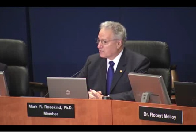 Mark Rosekind, previously an NTSB member, in December took the helm at NHTSA. Screen capture courtesy of NTSB.