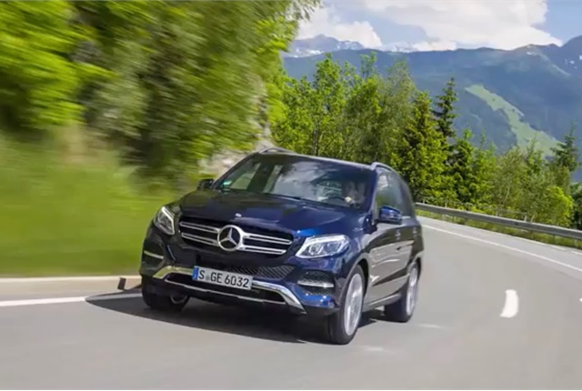 Screen shot of Mercedes-Benz GLE300d 4Matic via YouTube.