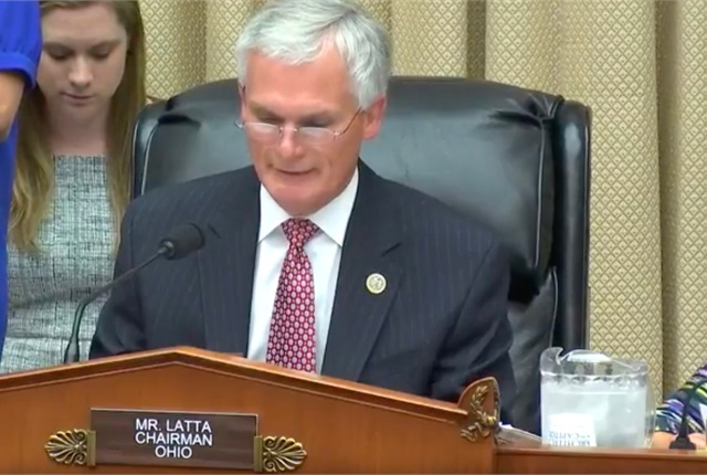 Congressman Robert Latta on July 19 addresses the House Subcommittee on Digital Commerce and Consumer Protection. Screen shot courtesy of the House Energy and Commerce Committee and YouTube.