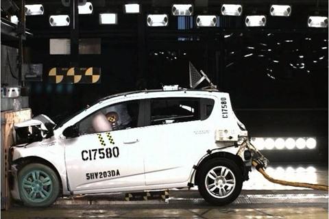 2012 chevrolet sonic draws 5 star safety rating news for General motors assessment test
