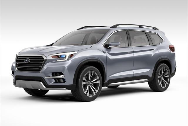 Photo of Ascent concept SUV courtesy of Subaru.