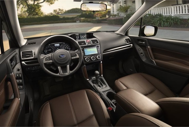 Photo of 2017 Forester interior courtesy of Subaru.