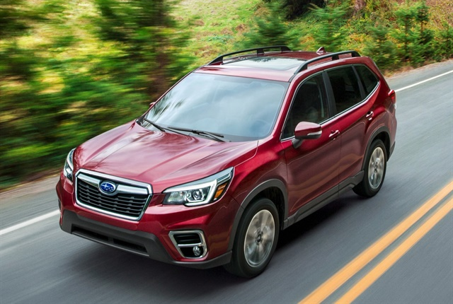 Photo of 2019 Forester compact SUV courtesy of Subaru.