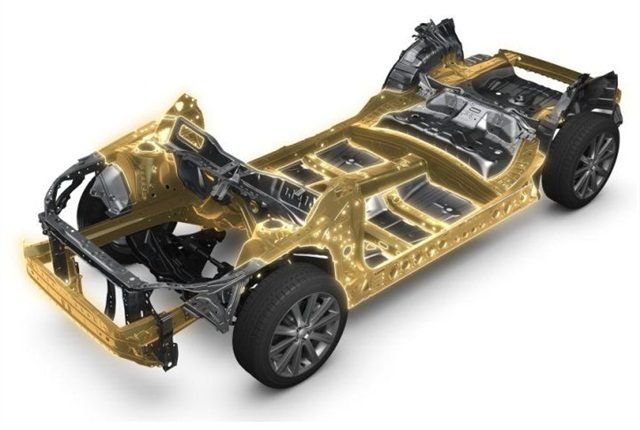 Photo of Subaru's global platform courtesy of Subaru.