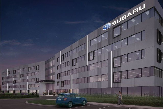 Rendering of Camden headquarters courtesy of Subaru.