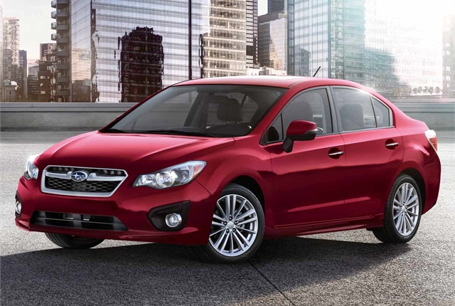 subaru 39 s 2014 impreza earns top safety award news automotive fleet. Black Bedroom Furniture Sets. Home Design Ideas