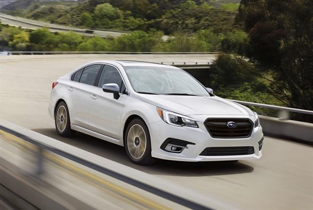 Photo of 2018 Legacy courtesy of Subaru.