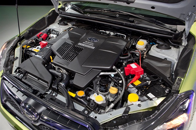 The vehicle's hybrid system features a 100V 13.5 kW nickel-metal hydride battery and a 13.4 hp electric motor. Photo courtesy Subaru.
