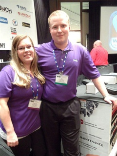 Mark McLean Jr., grand champion in this year's SuperTech competition, shares the glow of victory with his significant other, Amanda Johnson. McLean works for FedEx Freight in Montgomery, N.Y. Six more of the carrier's techs were also in the Top 30 rankings.