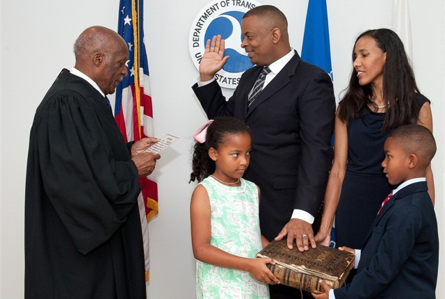 Charlotte Mayor Anthony Foxx Sworn was sworn in today as the 17th U.S. Secretary of Transportation.