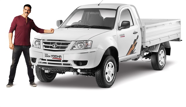 Indian film star and Tata Brand Ambassador Akshay Kumar helped introduce the Tata Xenon Yodha pickup. Photo: Tata Motors