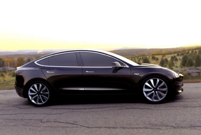 Photo of the Model 3 courtesy of Tesla.