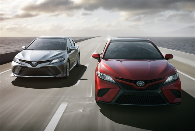 Photo of 2018 Camry and Camry Hybrid courtesy of Toyota.