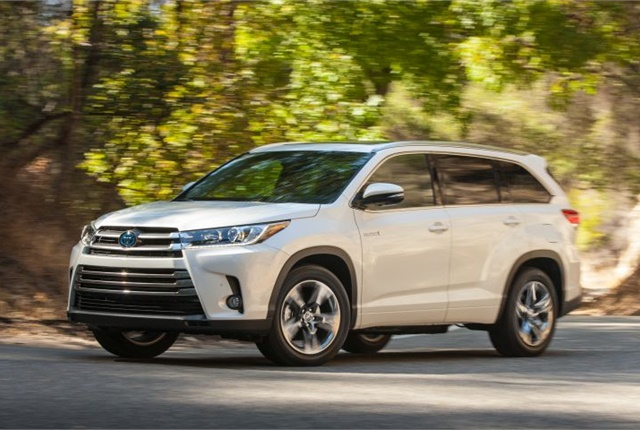 Photo of 2017 Highlander Hybrid courtesy of Toyota.