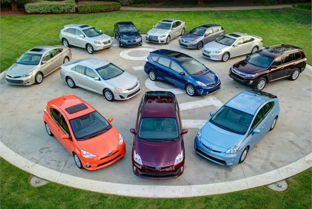 These 12 Toyota and Lexus hybrids are offered in the U.S. Photo courtesy of Toyota.