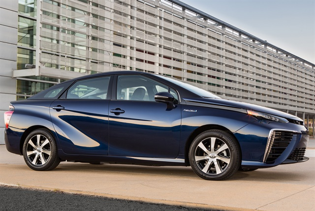 Photo of current Mirai fuel cell sedan courtesy of Toyota.