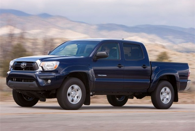 The Tacoma was Toyota's top commercial fleet vehicle in 2013. Photo of 2012-2014 model courtesy of Toyota.