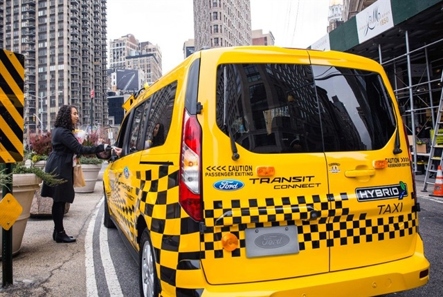 Photo of the Ford Transit Connect hybrid taxi courtesy of Ford.