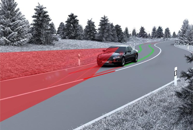 TRW's Lane Keeping Assist System with closed loop control. Photo: PRNewsFoto/TRW Automotive Holdings Corp.