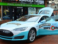 Ben and Jerry's Using Ice Cream-Dispensing Tesla