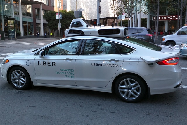 Photo of a Uber self-driving car courtesy of Wikimedia Commons.