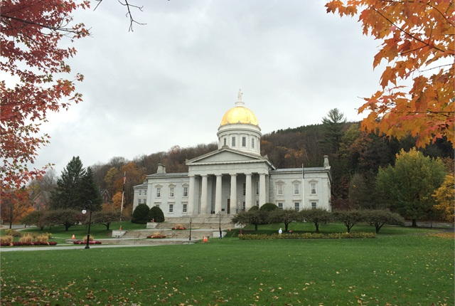 Photo of Vermont State House by Justin A. Wilcox via Wikimedia Commons.