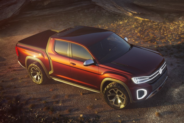 Photo of the Atlas Tanoak concept pickup courtesy of Volkswagen.