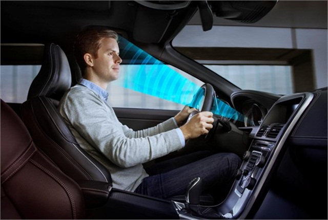 A sensor that can detect where the driver is looking is part of Volvo Cars' work to develop cars that can recognize if the driver is tired or inattentive. Photo courtesy of Volvo Cars.