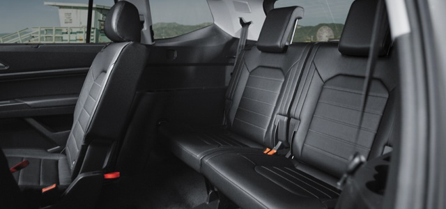 The third row seats feature ample leg room, seating adults comfortably. Photo: Volkswagen