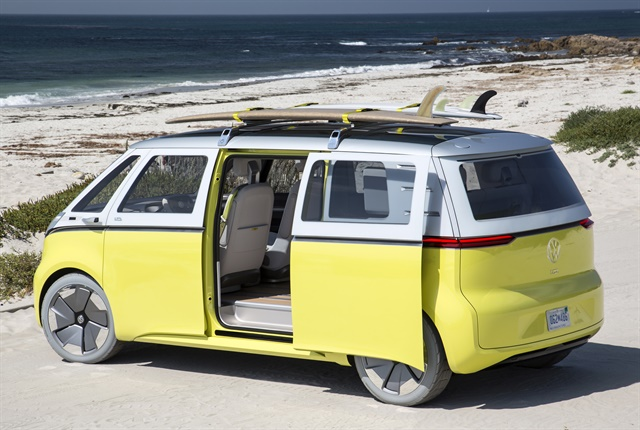 Photo of I.D. Buzz concept vehicle courtesy of Volkswagen.