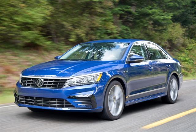 Photo of 2018 Passat courtesy of VW.