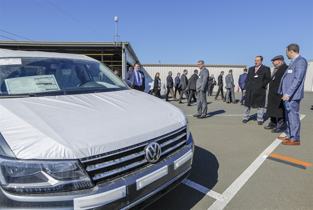 Photo of the opening of Volkswagen's Port of Benicia facility courtesy of the automaker.