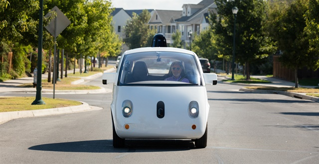 Waymo self-driving car prototype. Photo via Waymo.com