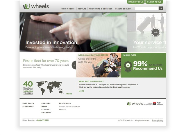 <p>Wheels new website.</p>